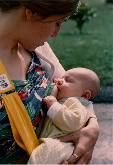 Childbirth Educator Mom and Baby